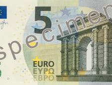 A intrat in circulatie noua bancnota de 5 euro