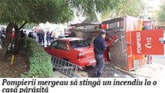 A rasturnat masina de pompieri