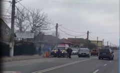 ACCIDENT in Tuzla: o femeie a fost ranita! VIDEO