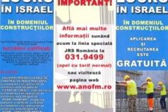 AJOFM BN: Se prelungeste perioada de inscriere pentru romanii care doresc sa lucreze in constructii in Israel