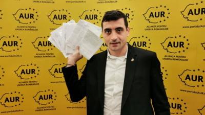 AUR a depasit USRPLUS in sondaje. Partidul lui George Simion a ajuns in top trei