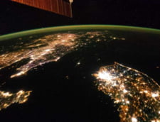 AVEM, DIN PACATE Coreea de Nord privita noaptea din satelit: o pata neagra