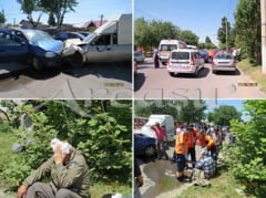Accident auto, intr-un trafic infernal!