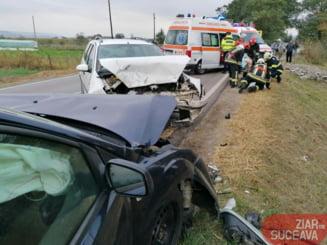 Accident brutal in Suceava. Un om a murit si patru persoane au fost ranite dupa ciocnirea frontala a doua masini