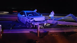 Accident cu 4 autovehicule pe A2