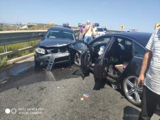 Accident cu 6 victime, între care doi copii, în județul Sibiu. Traficul în zonă a fost blocat total