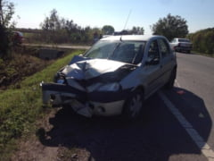 Accident cu o persoana ranita la iesirea din Botiz (Foto)