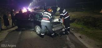 Accident cu patru raniti in Arges, provocat de un tanar cu o masina furata
