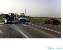 Accident cu sase victime la intrarea pe A2 din Lehliu Gara