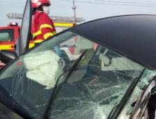 Accident cu trei masini pe A1, intre Sibiu si Sebes. Doua femei au fost ranite