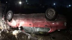 Accident cu trei raniti provocat de sofer baut care circula cu viteza