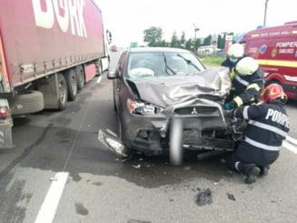 Accident cu trei victime la Valcele. O persoana e in stare grava la spital FOTO/VIDEO