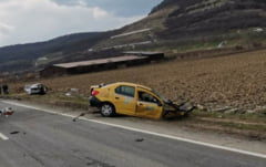 Accident foarte grav pe DN1, in Sibiu. Trei morti dupa impactul frontal intre doua autoturisme FOTO UPDATE