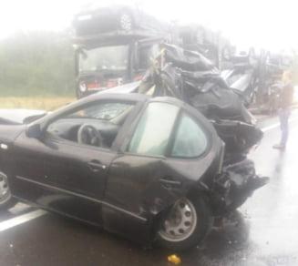 Accident grav, cu doua victime, langa Brasov