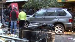 Accident grav in Focsani, provocat de o politista beata - a ranit un om, apoi a fugit (Video)