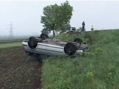 Accident grav in Ialomita, din cauza unei depasiri - doi morti