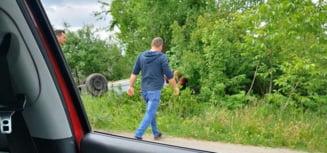 Accident grav in apropiere de Timisoara. Oameni raniti, dupa ce un sofer beat s-a rasturnat cu masina