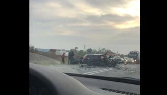 Accident grav langa Timisoara. Trei tineri au ajuns la spital