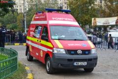 Accident grav pe DN 72: o femeie a ajuns la spital, circulatie blocata