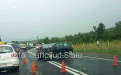 Accident grav pe DN1 la Saliste in zona Aciliu. Trafic blocat partial