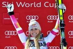 Accident grav pentru o super campioana la schi. Lindsey Vonn a fost luata cu targa (Video)