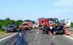 Accident groaznic pe autostrada A1 la 26 de kilometri de București. Un om a murit într-o ciocnire violentă în apropiere de Bolintin Vale