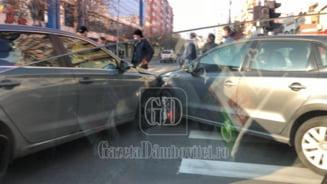 Accident in centrul municipiului Targoviste