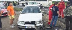 Accident in lant la Remetea Mare. Un barbat a ramas incarcerat
