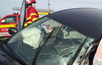Accident in lant pe autostrada A1, la Orastie, dupa ce roata unui TIR s-a desprins. Sase autoturisme si doua autotrenuri, implicate in coliziune