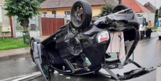 Accident la iesire din Sangeorgiu de Mures spre Reghin