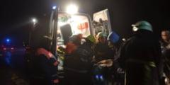 Accident la intrare in Mosuni, o persoana a avut nevoie de ingrijiri medicale