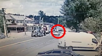 Accident mortal la Negreni - Scornicesti. Un barbat a fost lovit de un autoturism in timp ce traversa DN 65 - E 574