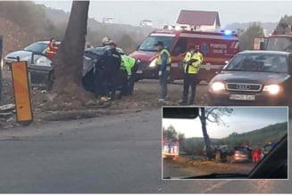 Accident mortal pe DN.76: Soferul unui Hyundai a pierdut controlul volanului si s-a izbit violent de un copac