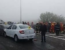 Accident pe Autostrada Soarelui: Toti soferii au fost audiati. A fost identificat primul lovit, e instructor auto