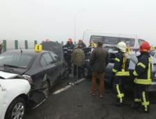 Accident pe Autostrada Soarelui: Ultima masina implicata are kilometrajul blocat la 118 km/h!