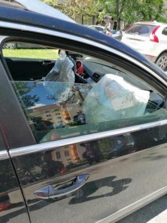 Accident pe Bulevardul Independentei! Un barbat a fost transportat la spital!