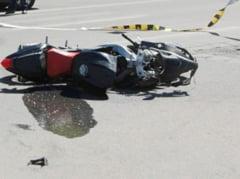 Accident pe DN 22: un neamt a cazut cu motocicleta