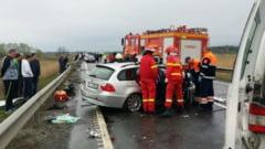 Accident pe DN1 la Scoreiu intre Sibiu si Brasov. Doua tinere sunt ranite