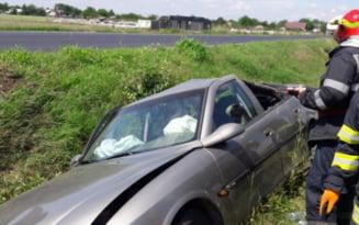 Accident pe DN2A, intre Slobozia si satul Paltinisu. Doua persoane au fost ranite