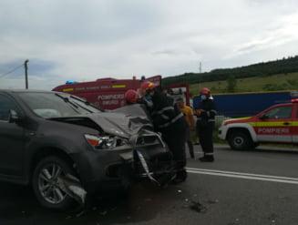 Accident pe E60 la Valcele