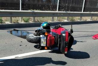 Accident pe drumul expres: Motociclist oradean transportat la spital cu multiple leziuni. Cum s-a produs accidentul