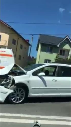 Accident pe strada Corneliu Coposu. Ciocnire in lant - VIDEO