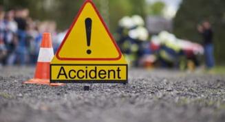 Accident produs de un sofer baut, pe soseaua Deva - Brad. Barbatul s-a predat doua ore mai tarziu la Politie