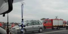 Accident rutier SPECTACULOS pe DN3: mai multe masini s-au facut PRAF