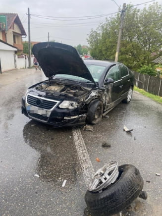 Accident rutier grav in Arges. Sase persoane au fost transportate la spital, printre care si doi copii