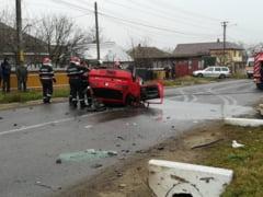 Accident rutier grav la Iasi! Un tanar de 24 de ani a fost la un pas de moarte - FOTO