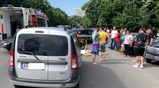 Accident rutier grav pe strada Cornisei din Slatina. O tanara a fost ranita si transportata la spital