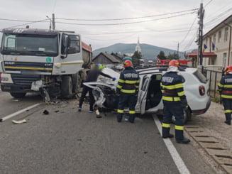 Accident rutier la Paltinoasa FOTO