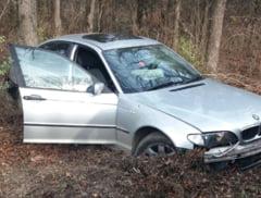 Accident rutier la Valu: un BMW cu numere de Anglia s-a facut PRAF