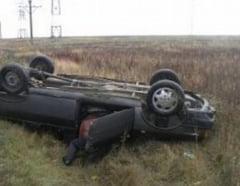 Accident rutier langa Blaj - Autoturism rasturnat dupa ce a fost acrosat lateral de un TIR